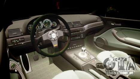 BMW E46 M3 para GTA 4 vista de volta