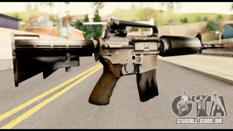 M4 from Metal Gear Solid para GTA San Andreas segunda tela