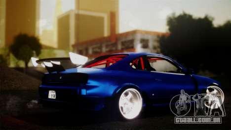 Nissan Silvia S15 DC Hunter para GTA San Andreas esquerda vista