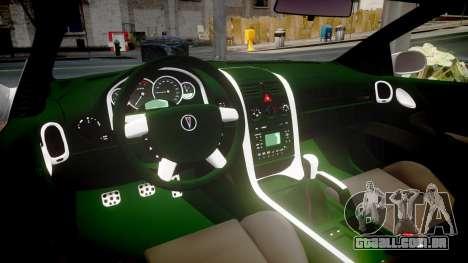 Pontiac GTO 2006 17in wheels para GTA 4 vista interior