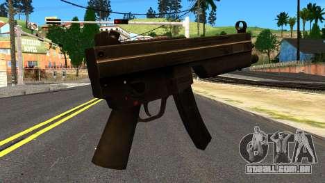 MP5 from GTA 4 para GTA San Andreas