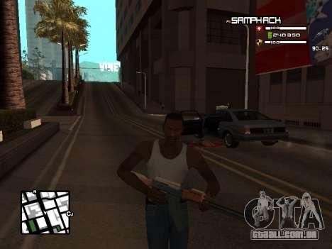С-HUD por SampHack v. 21 para GTA San Andreas terceira tela