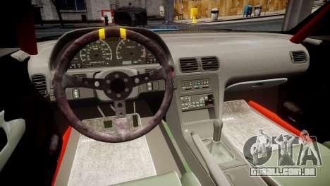 Nissan Silvia S13 Missile para GTA 4 vista de volta
