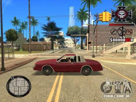 C-HUD for Ghetto para GTA San Andreas por diante tela