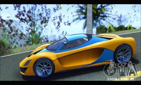 Grotti Turismo R v2 (GTA V) (IVF) para GTA San Andreas esquerda vista