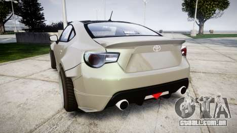 Toyota GT-86 RocketBunny para GTA 4 traseira esquerda vista