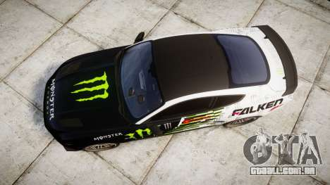 Ford Mustang GT 2015 Custom Kit monster energy para GTA 4 vista direita