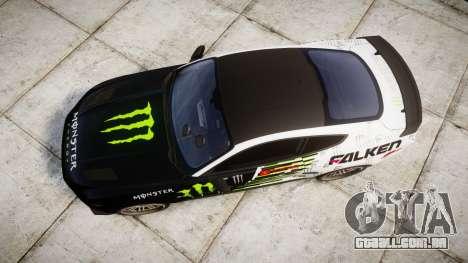 Ford Mustang GT 2015 Custom Kit monster energy para GTA 4 vista direita