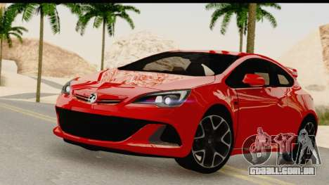 Vauxhall Astra VXR para GTA San Andreas traseira esquerda vista