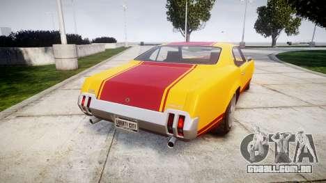 Declasse Sabre GT Little Wheel para GTA 4 traseira esquerda vista