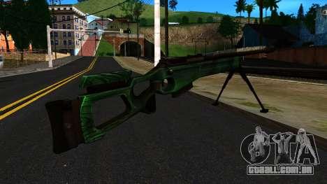 SV-98 com um Bipé e traseira Vista para GTA San Andreas segunda tela