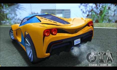 Grotti Turismo R v2 (GTA V) (IVF) para GTA San Andreas traseira esquerda vista