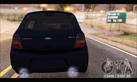 Chevrolet Agile Tunning para GTA San Andreas traseira esquerda vista