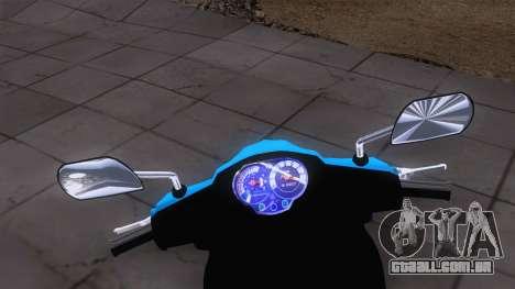 Yamaha Vega RR para GTA San Andreas traseira esquerda vista