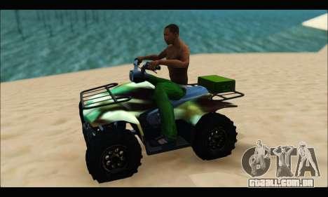 ATV Army Edition para GTA San Andreas esquerda vista