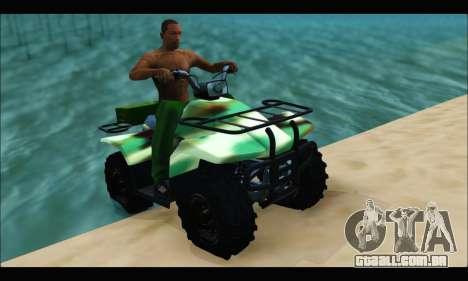 ATV Army Edition para GTA San Andreas traseira esquerda vista