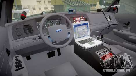 Ford Crown Victoria Highway Patrol [ELS] Liberty para GTA 4 vista de volta