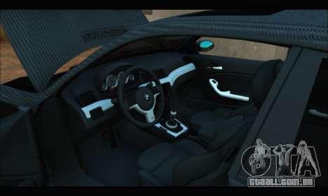 BMW M3 E46 Carbon para GTA San Andreas vista direita