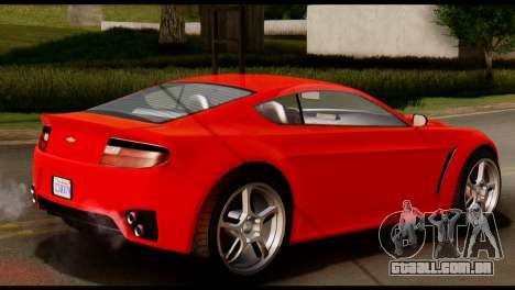 GTA 5 Dewbauchee Rapid GT Coupe [IVF] para GTA San Andreas traseira esquerda vista