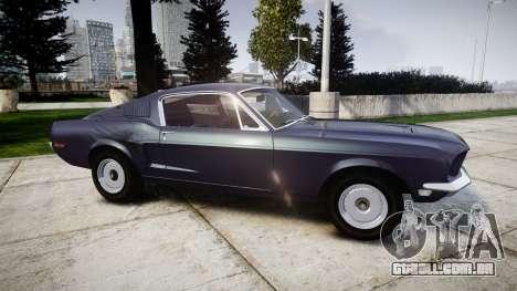Ford Mustang GT Fastback 1968 Auto Drag III para GTA 4 esquerda vista