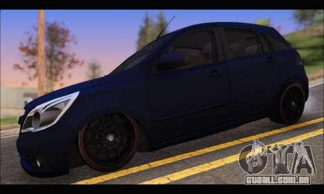 Chevrolet Agile Tunning para GTA San Andreas esquerda vista