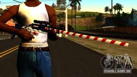Ano Novo Rifle Sniper para GTA San Andreas terceira tela