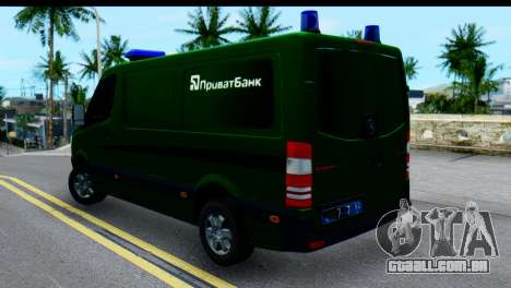 Mercedes-Benz Sprinter Banco Privado para GTA San Andreas