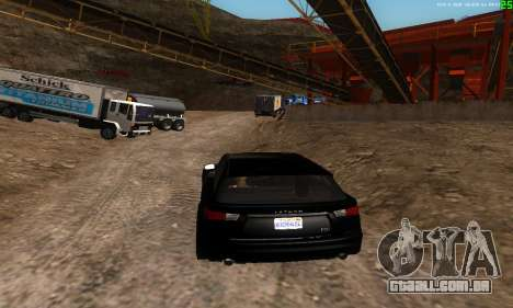Novas rotas de transporte para GTA San Andreas por diante tela