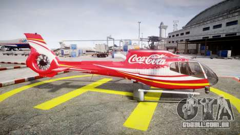 Eurocopter EC130 B4 Coca-Cola para GTA 4 esquerda vista