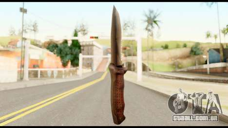 BB Cqcknife from Metal Gear Solid para GTA San Andreas segunda tela