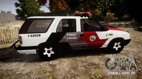 Chevrolet Blazer 2010 Tactical Force [ELS] para GTA 4 esquerda vista
