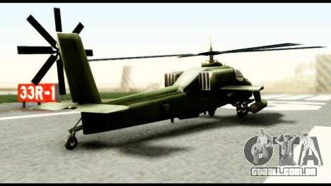 Beta Hunter para GTA San Andreas traseira esquerda vista