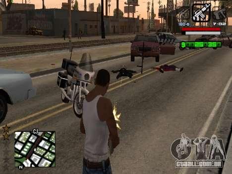 Nice C-HUD para GTA San Andreas terceira tela