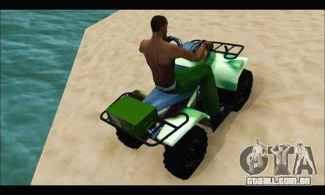 ATV Army Edition para GTA San Andreas vista direita