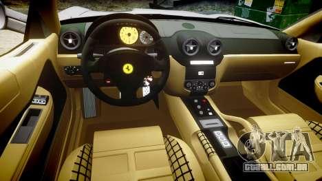 Ferrari 599 GTB 2006 Hamann para GTA 4 vista de volta