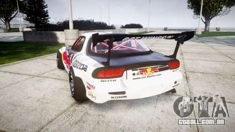 Mazda RX-7 Rocket Bunny MadMake para GTA 4 traseira esquerda vista
