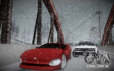 Inverno ENBSeries para GTA San Andreas por diante tela