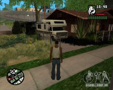Acampamento Modificação De Versão Beta para GTA San Andreas por diante tela