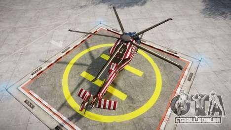 Sikorsky MH-X Silent Hawk [EPM] Freedom para GTA 4 traseira esquerda vista