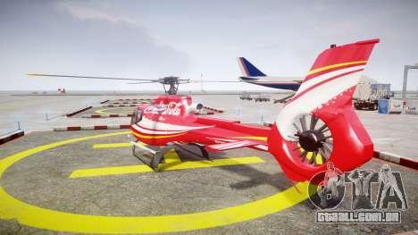 Eurocopter EC130 B4 Coca-Cola para GTA 4 traseira esquerda vista