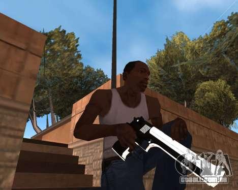 White Chrome Gun Pack para GTA San Andreas sétima tela