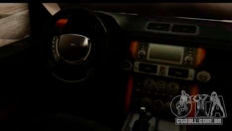 Land Rover ДПС para GTA San Andreas vista interior