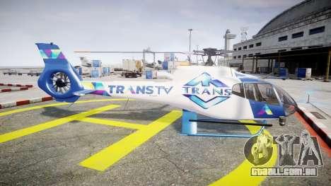 Eurocopter EC130 B4 TRANS TV para GTA 4