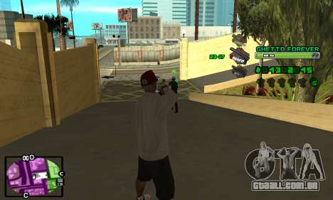 C-HUD Ghetto 4ever para GTA San Andreas segunda tela