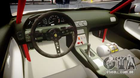 Nissan 240SX Sil80 MikeMasse Edition para GTA 4 vista interior