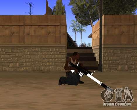 White Chrome Gun Pack para GTA San Andreas décima primeira imagem de tela
