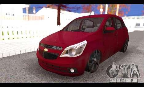 Chevrolet Agile Tunning para GTA San Andreas vista direita