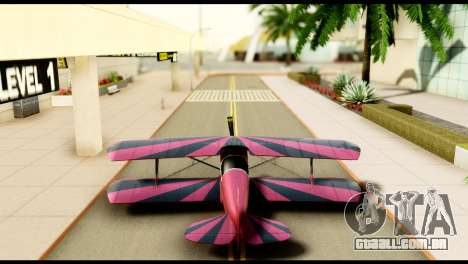 Beta Stuntplane para GTA San Andreas vista interior