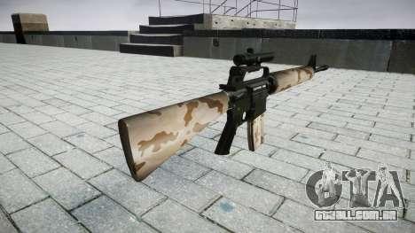 O M16A2 rifle [óptica] saara para GTA 4 segundo screenshot