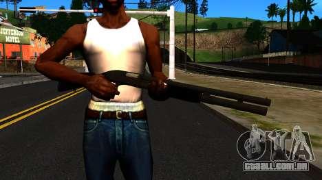 Preto MP-133 Sem Brilho para GTA San Andreas terceira tela